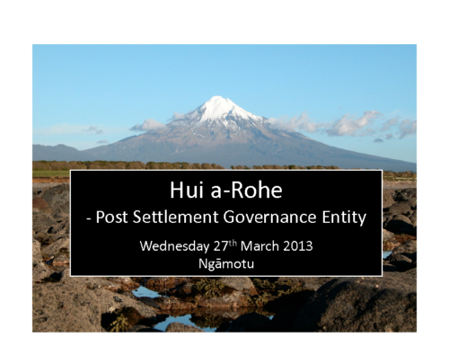 PSGE Development Hui Presentation