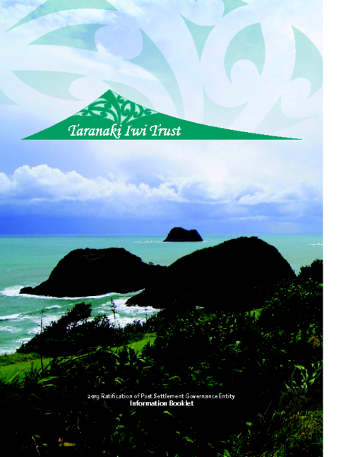 Taranaki Iwi PSGE Ratification Information
