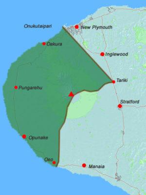 RMA Taranaki Iwi area map