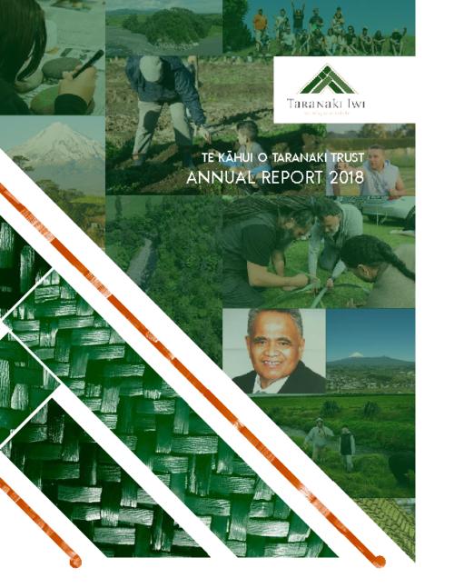 Te Kahui o Taranaki Trust – Annual Report 2018 (web)