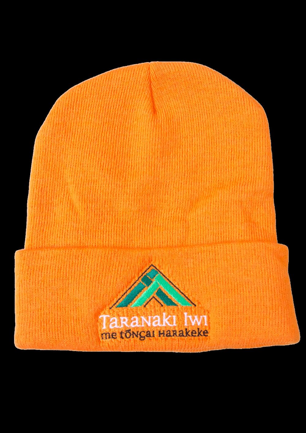 Taranaki Iwi Acrylic Beanie – Orange